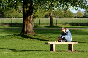 Deixar a criatividade fluir no parque é muito bom!