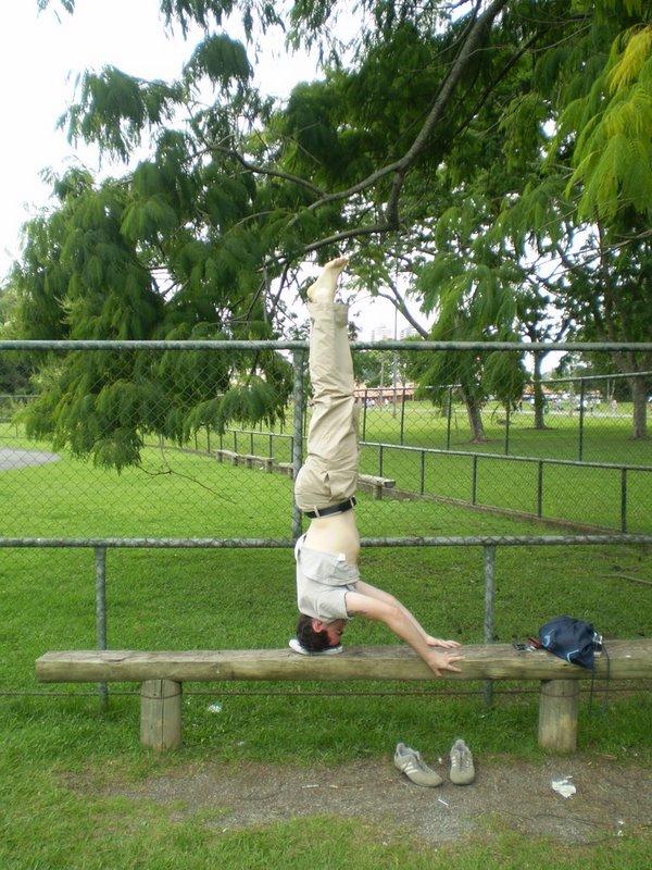 Meu amigo Marco, por exemplo, vai ao parque para ver as coisas de uma forma diferente.