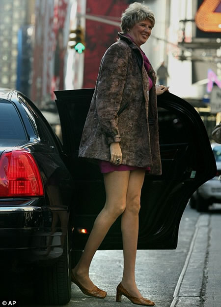 Ela só anda em limusines.